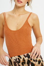 Wishlist SCOOP NECK RIBBED BODYSUIT - Front cropped