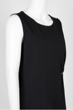 Carre Noir Scoop Neck Sleeveless Pleated Side Solid Jersey Top - Alternate List Image