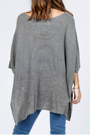 M-Rena  Scoop neck sweater poncho - Front full body