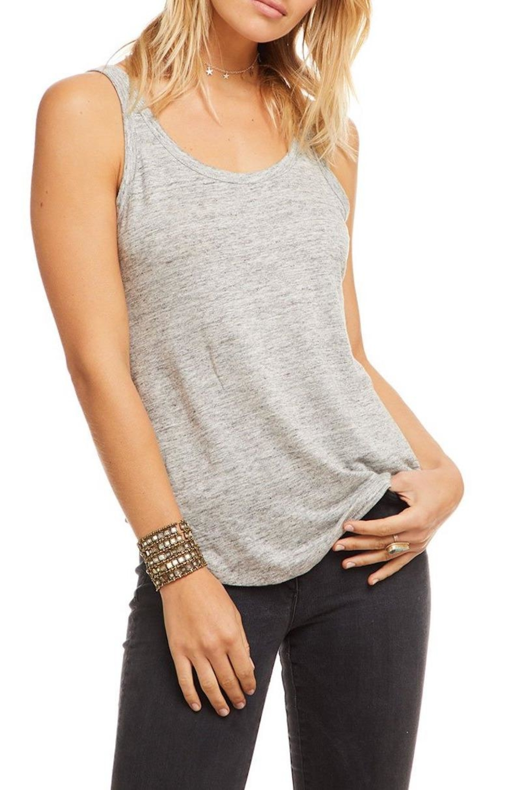 Chaser Scoop Neck Tank - Front Full Image