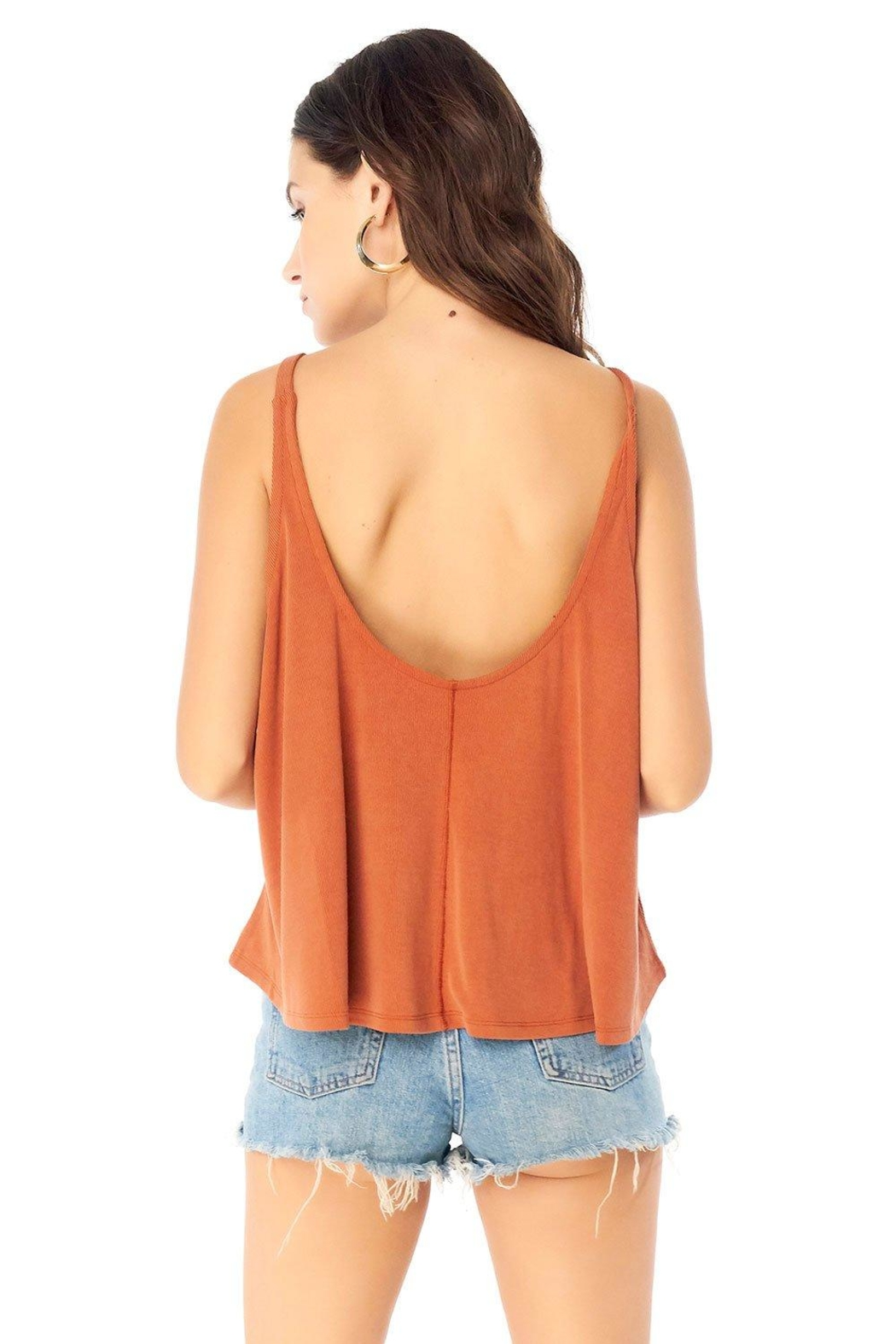 Saltwater Luxe Scoop Neck Tank - Side Cropped Image