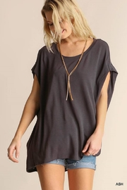 Umgee USA Scoop Neck Top - Front cropped