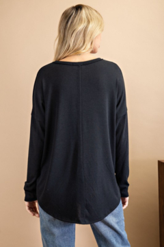 143 Story Scoop Neck Top with Chest Pocket - Alternate List Image
