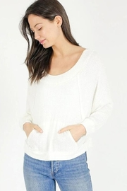 Six Fifty Scoop Neck Waffle Top - Product Mini Image