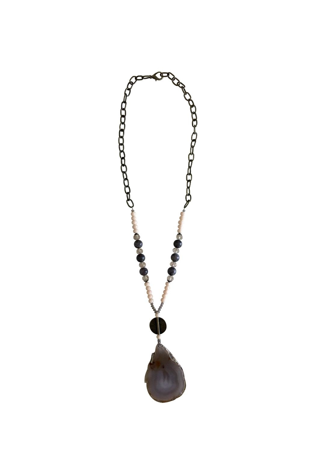 Scooples Agate Statement Necklace - Front Cropped Image