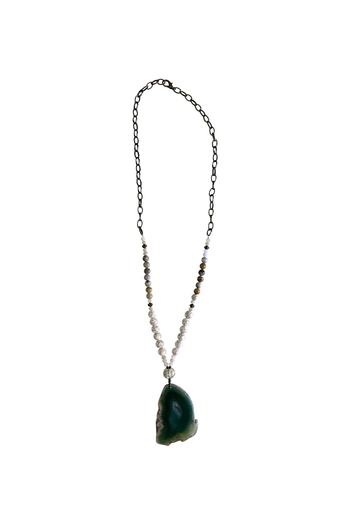 Scooples Emerald Agate Necklace - Main Image