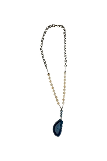 Scooples Teal Agate Necklace - Main Image
