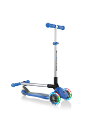 Globber Scooter Primo Foldable Lights - Front full body