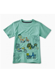 Tea Collection Scooter Traffic Graphic Tee - Front cropped