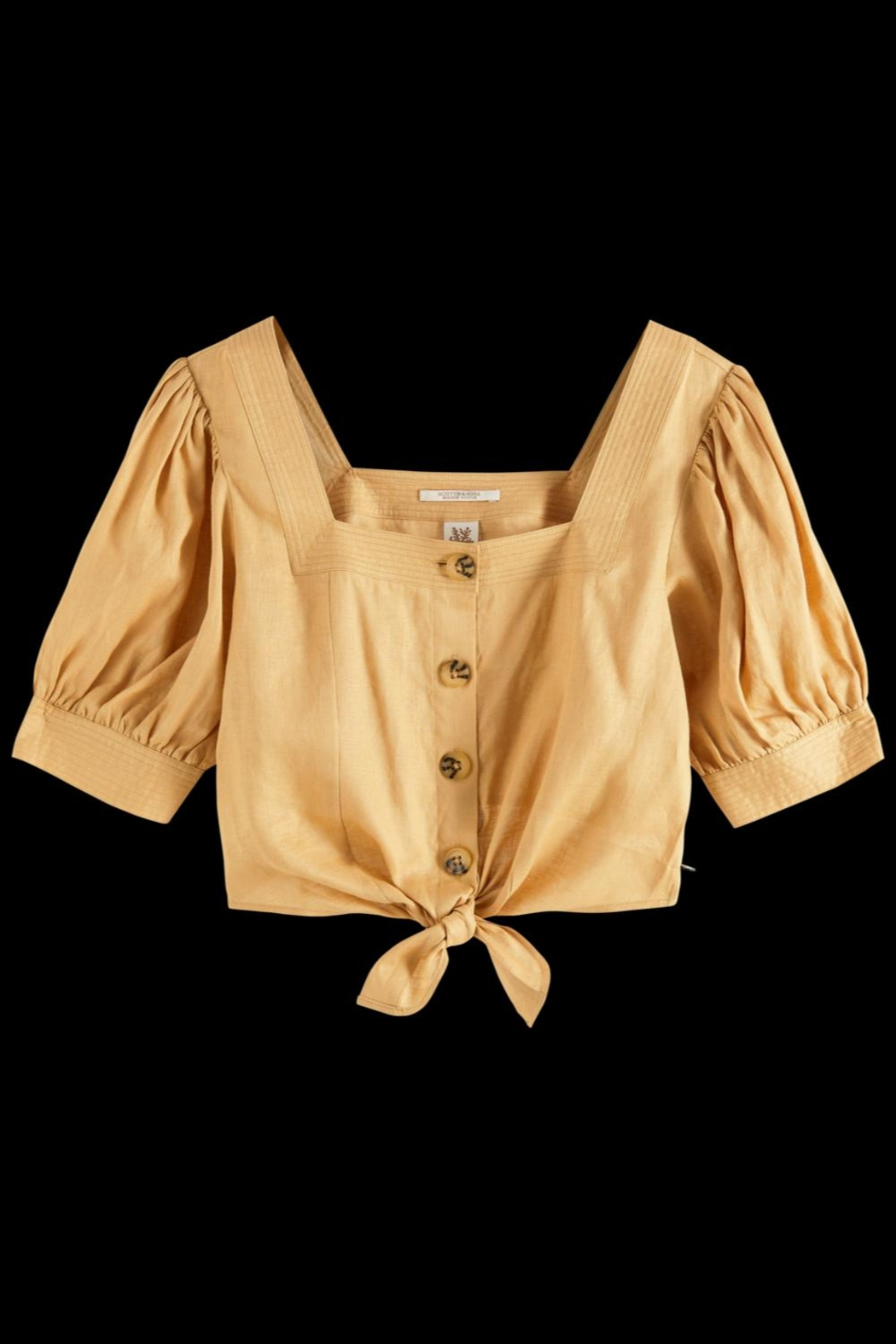 Scotch % Soda Cropped Bubble Sleeve Top - Side Cropped Image