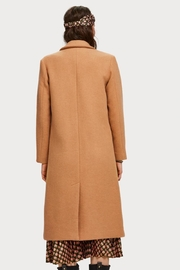 Scotch % Soda Long Wool Coat - Front full body