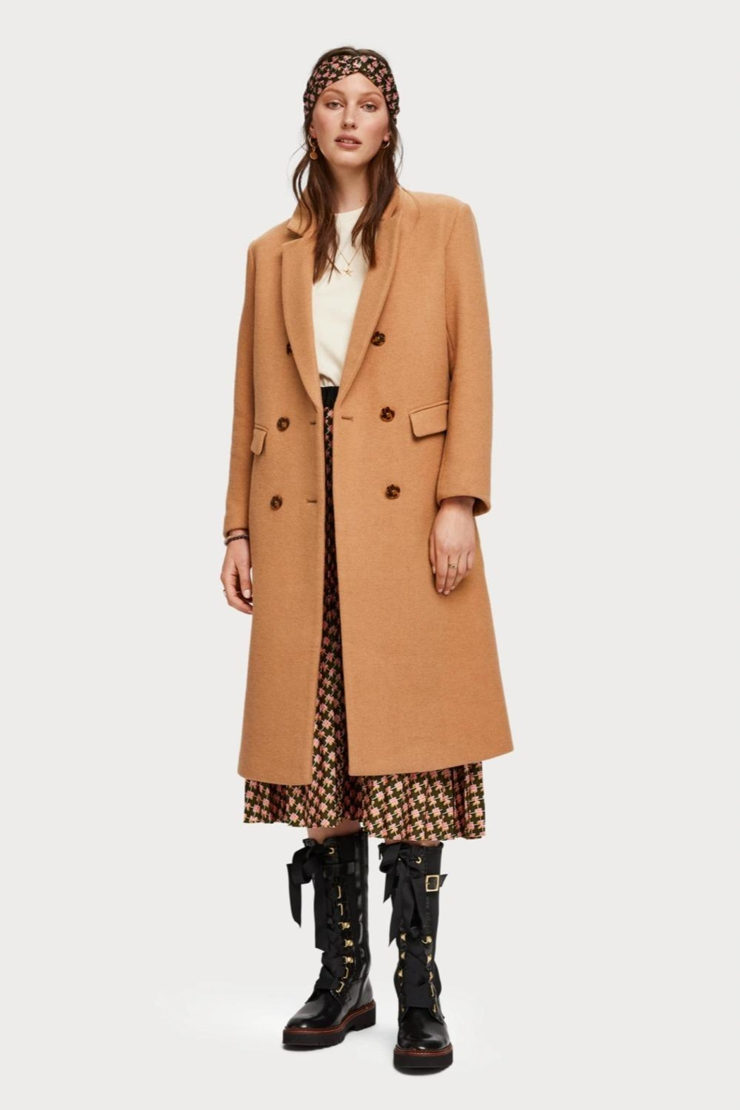 Scotch % Soda Long Wool Coat - Main Image