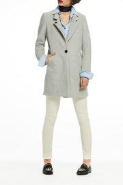 Scotch and Soda Bonded Wool Coat - Back cropped