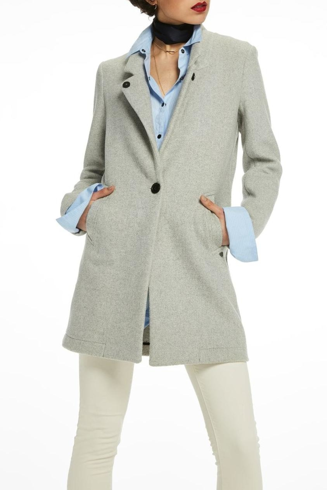 Scotch and Soda Bonded Wool Coat - Front Full Image