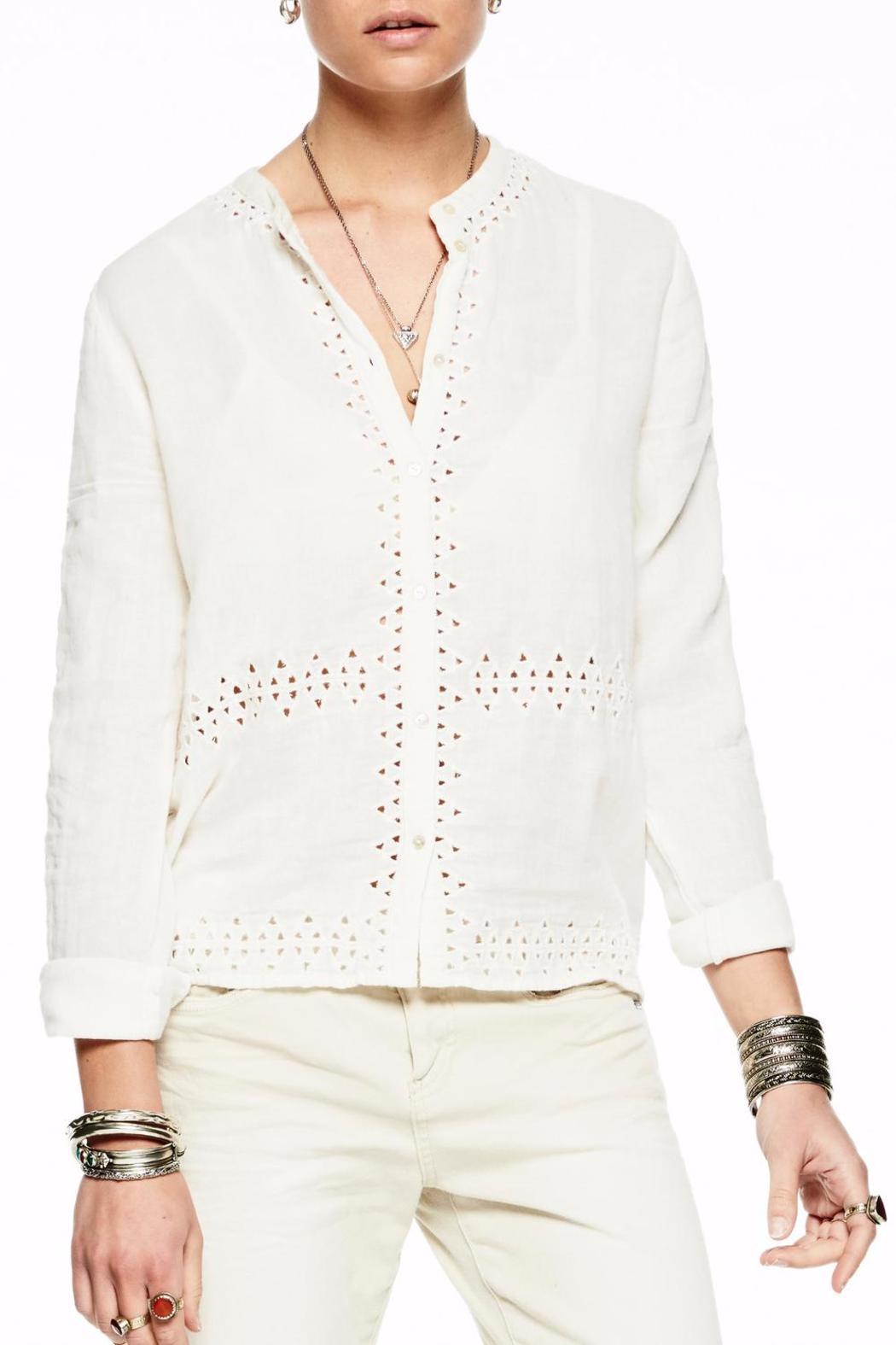 Scotch and Soda Cut Out Shirt - Front Cropped Image