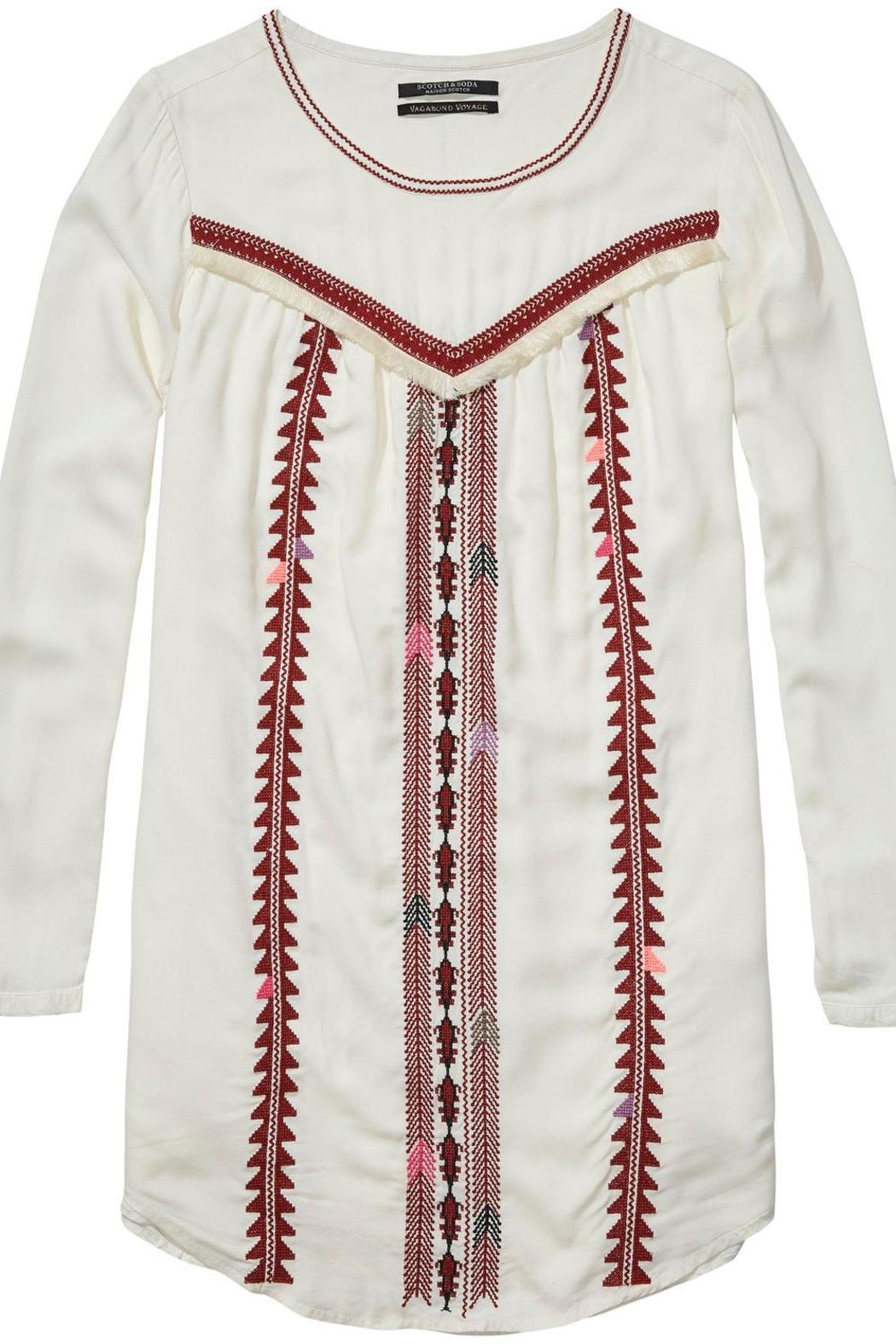 Scotch and Soda Embroidered Dress - Front Full Image