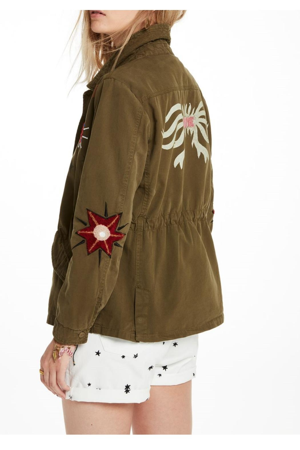 Scotch and Soda Embroidered Military Jacket - Front Full Image