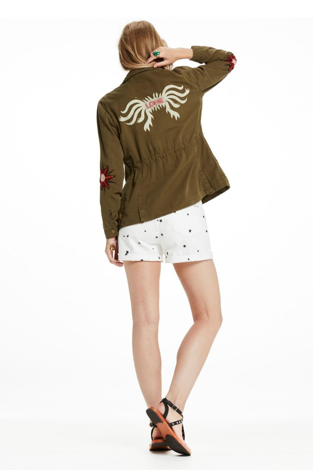 Scotch and Soda Embroidered Military Jacket - Side Cropped Image