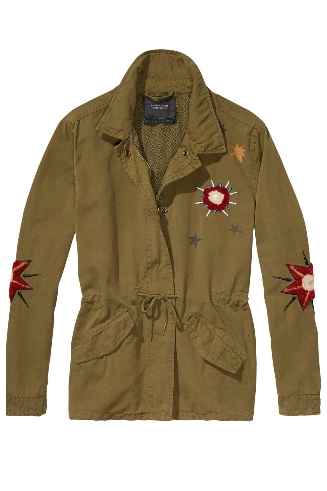 Scotch and soda embroidered military jacket from canada by