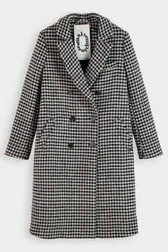Scotch and Soda Houndstooth Wool Coat - Alternate List Image