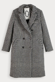 Scotch and Soda Houndstooth Wool Coat - Back cropped