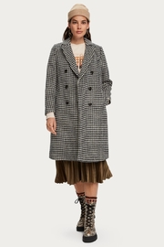 Scotch and Soda Houndstooth Wool Coat - Side cropped