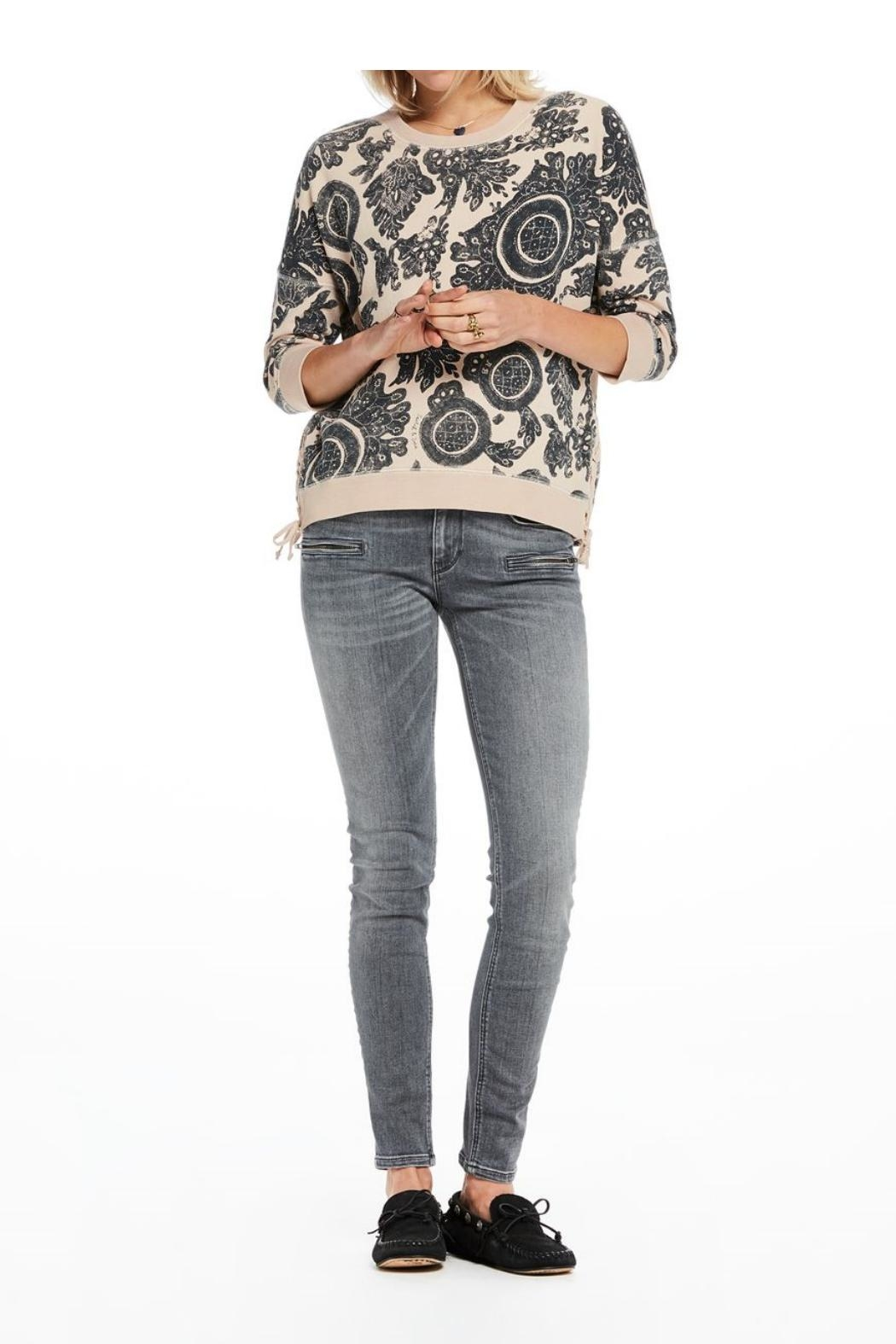 Scotch and Soda Printed Sweater - Front Full Image
