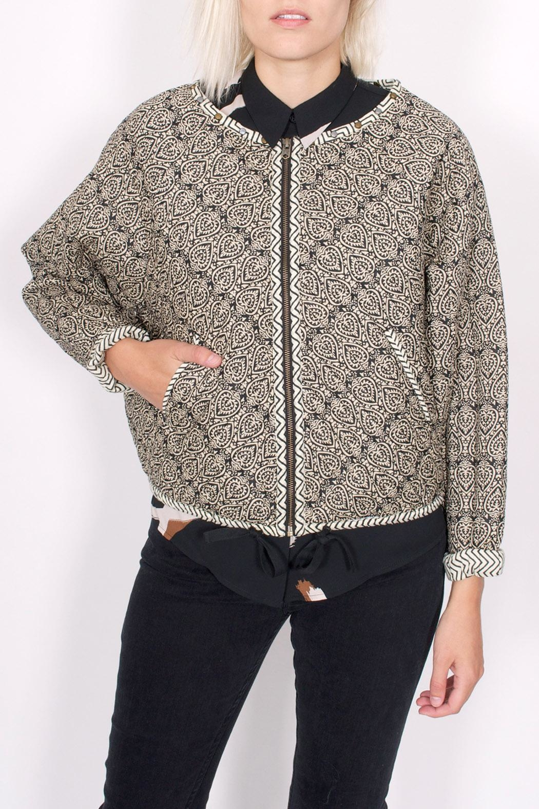 Scotch and Soda Quilted Paisley Jacket - Front Full Image