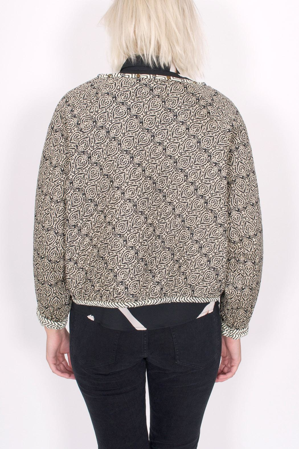 Scotch and Soda Quilted Paisley Jacket - Back Cropped Image