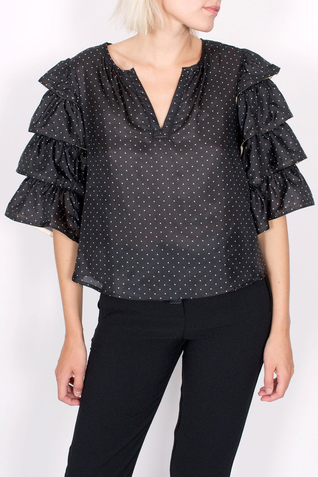 Scotch and Soda Ruffle Pirate Blouse - Front Cropped Image