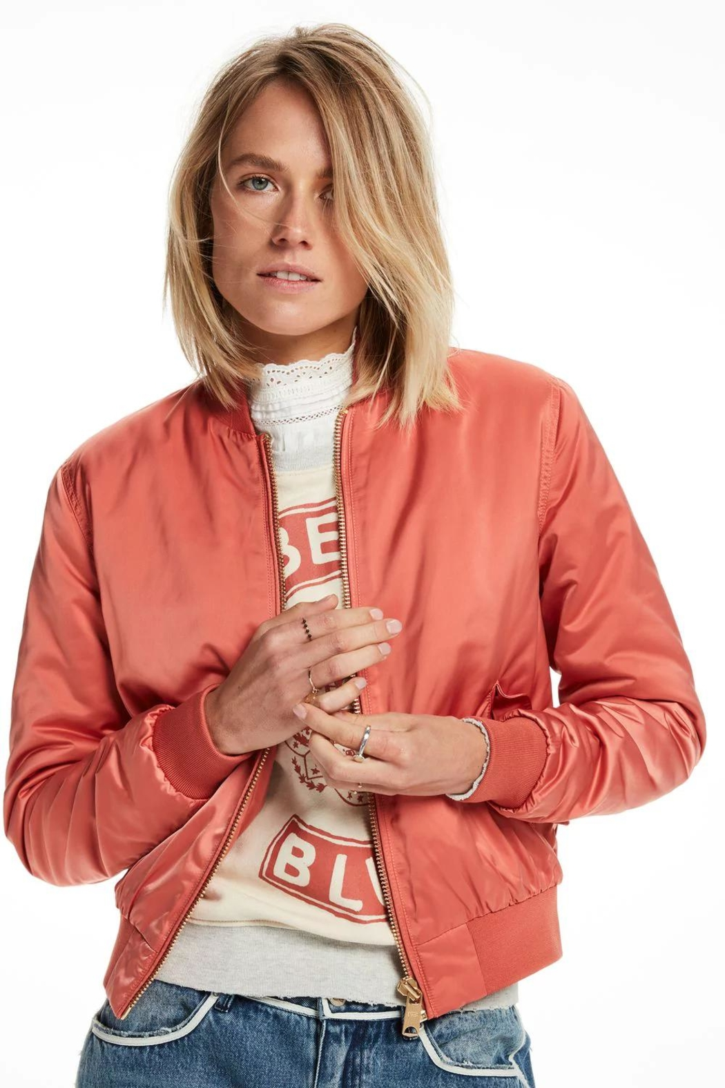 Scotch and Soda Satin Bomber Jacket - Back Cropped Image