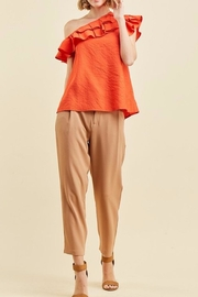 Scout Clothing & Decor Coral Ruffle Blouse - Product Mini Image