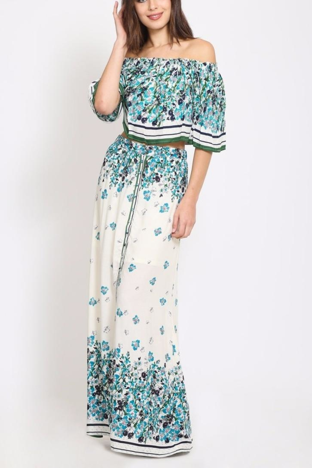 Scout Clothing & Decor Floral Maxi Skirt - Front Cropped Image
