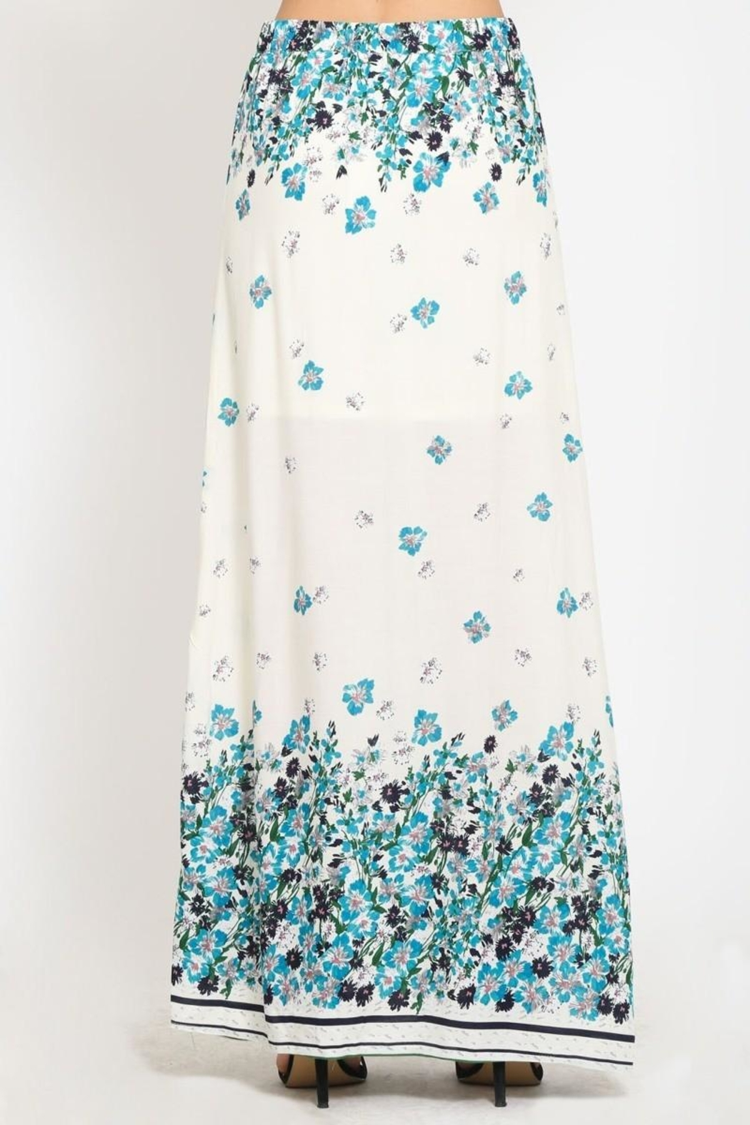 Scout Clothing & Decor Floral Maxi Skirt - Side Cropped Image