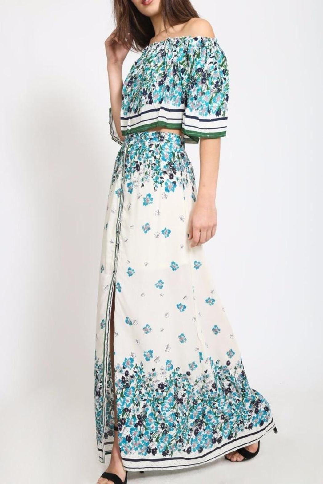 Scout Clothing & Decor Floral Maxi Skirt - Main Image