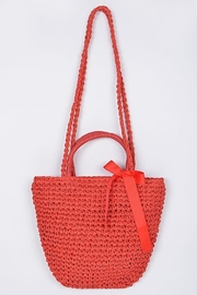 Scout Clothing & Decor Straw Bag - Front cropped