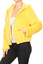 Scout Clothing & Decor Yellow Fur Bomber - Front full body