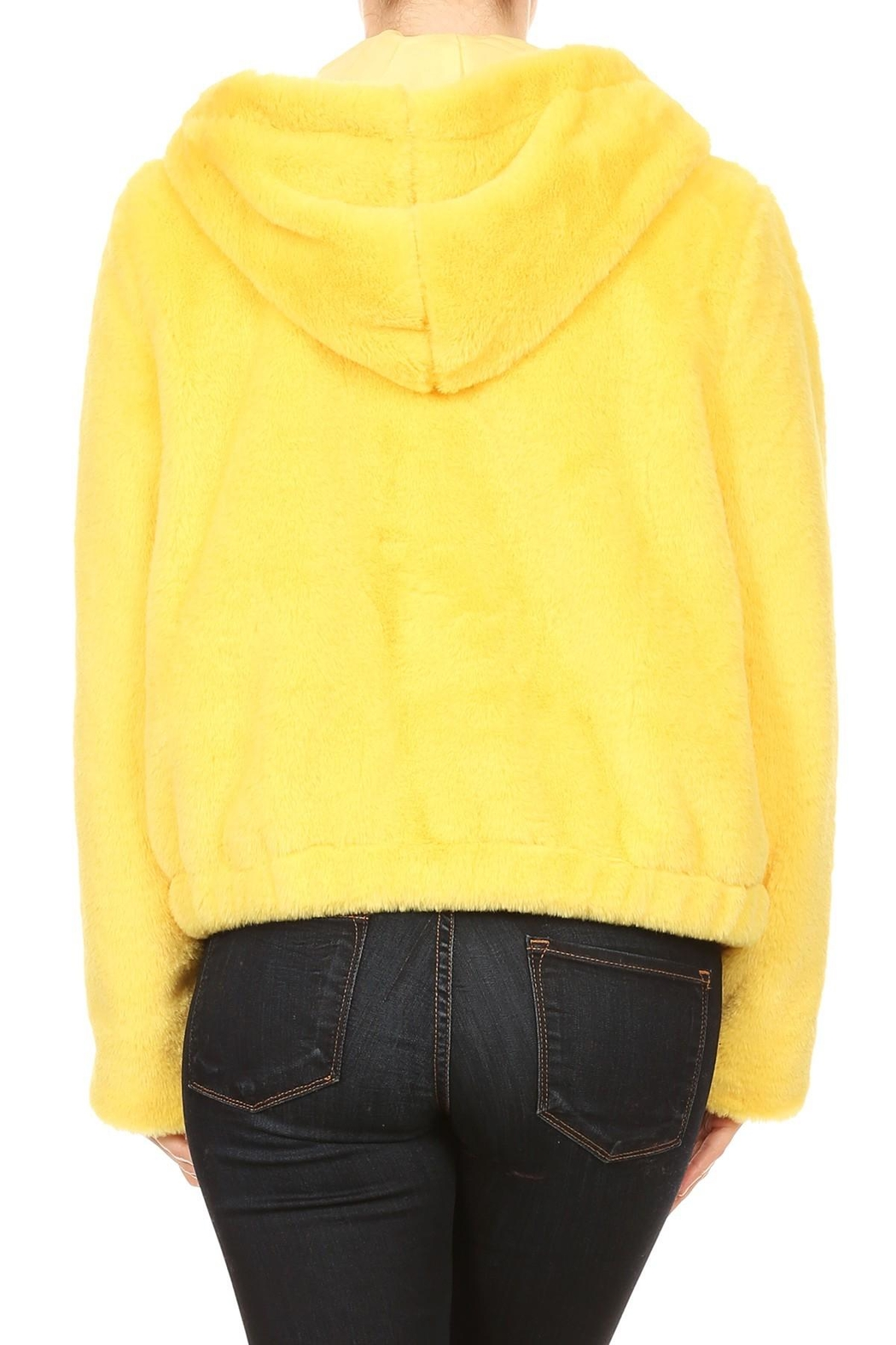 Scout Clothing & Decor Yellow Fur Bomber - Side Cropped Image