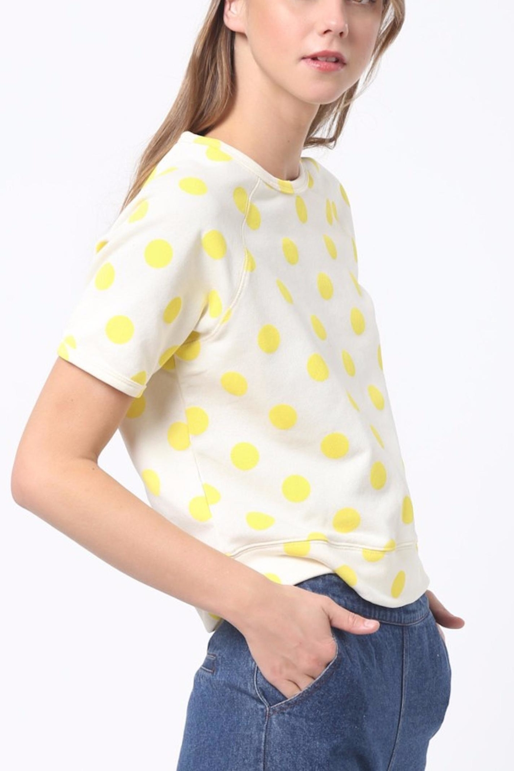 Scout Clothing & Decor Yellow Polkadot Tee - Side Cropped Image
