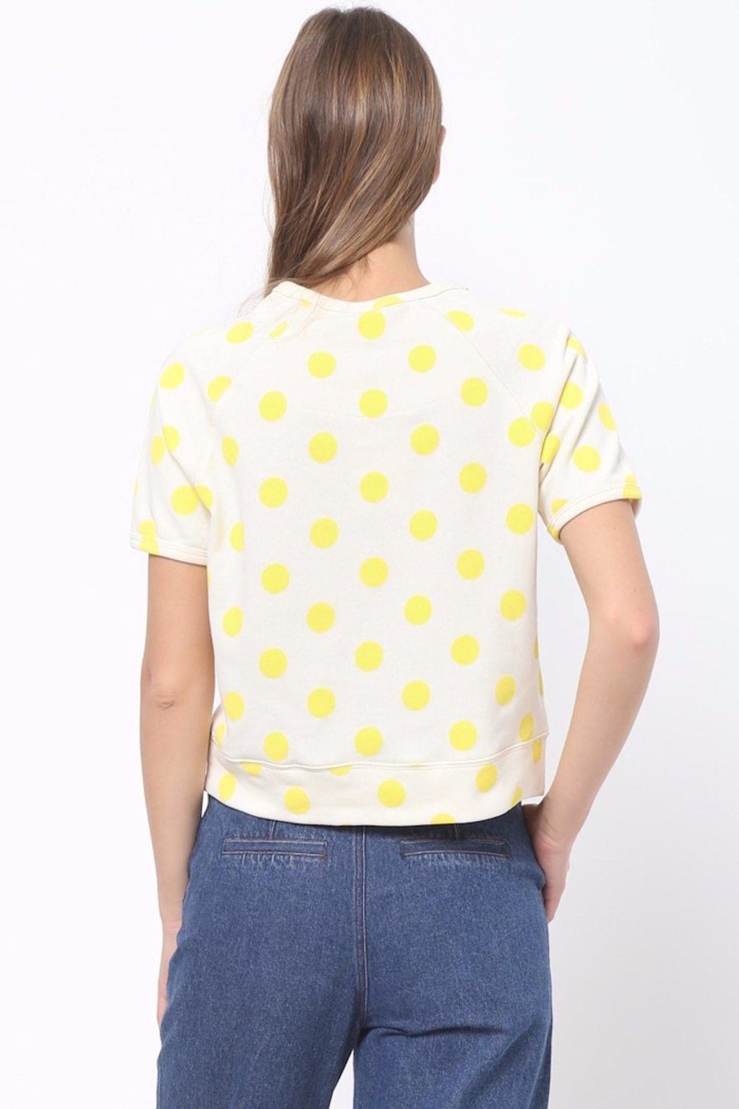 Scout Clothing & Decor Yellow Polkadot Tee - Front Full Image