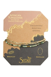 Scout CURATED WEARS African Turquoise Necklace - Front cropped