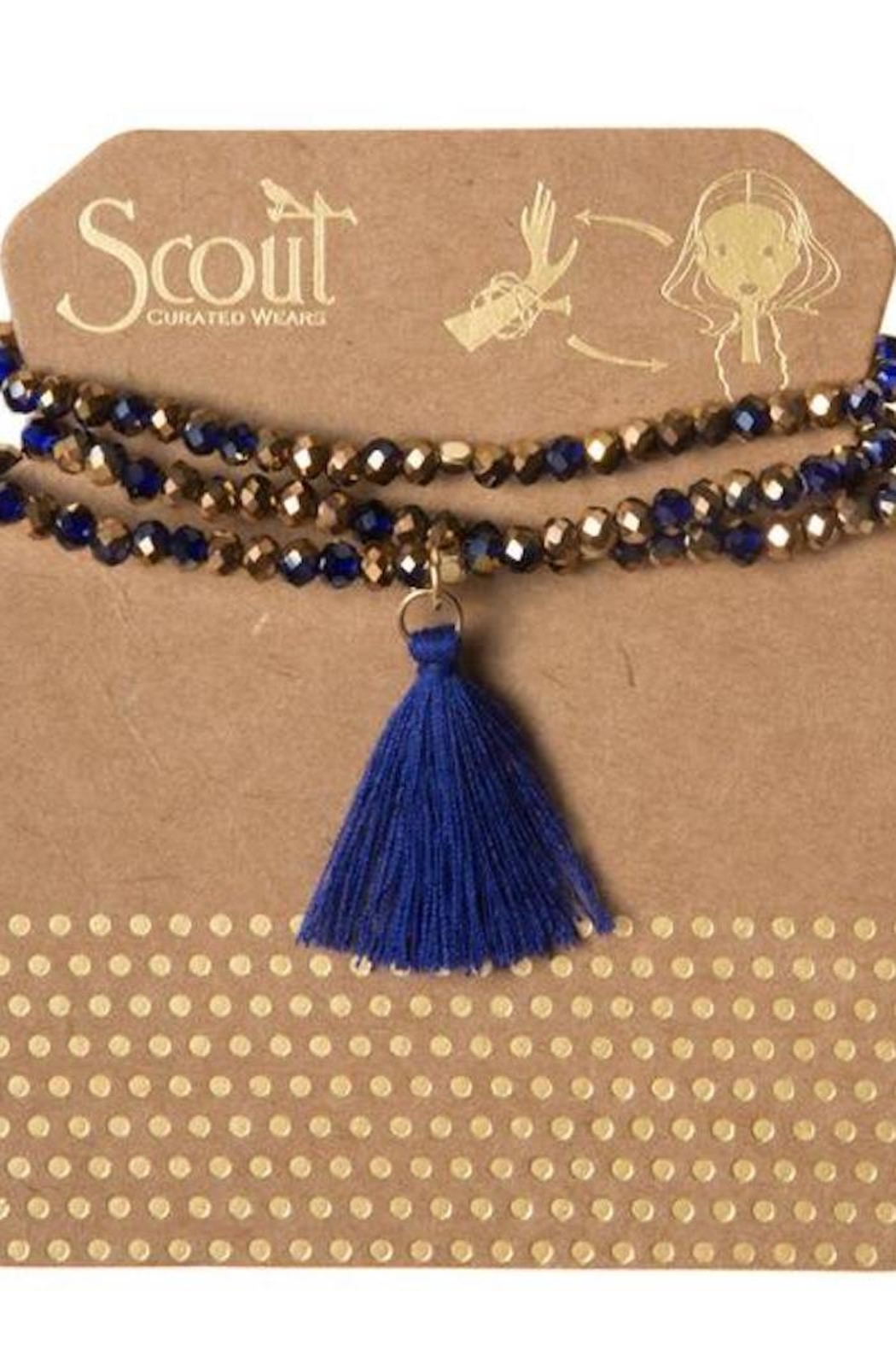 Scout CURATED WEARS Blue Tassel Wrap - Main Image