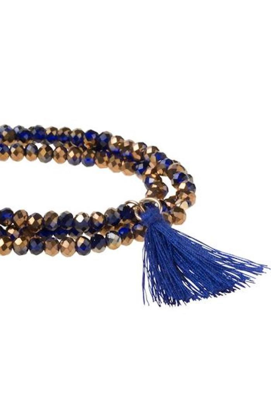 Scout CURATED WEARS Blue Tassel Wrap - Front Full Image