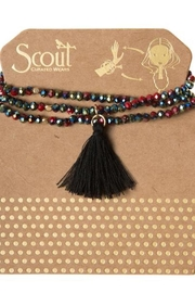 Scout CURATED WEARS Garnet Tassel Wrap - Front cropped