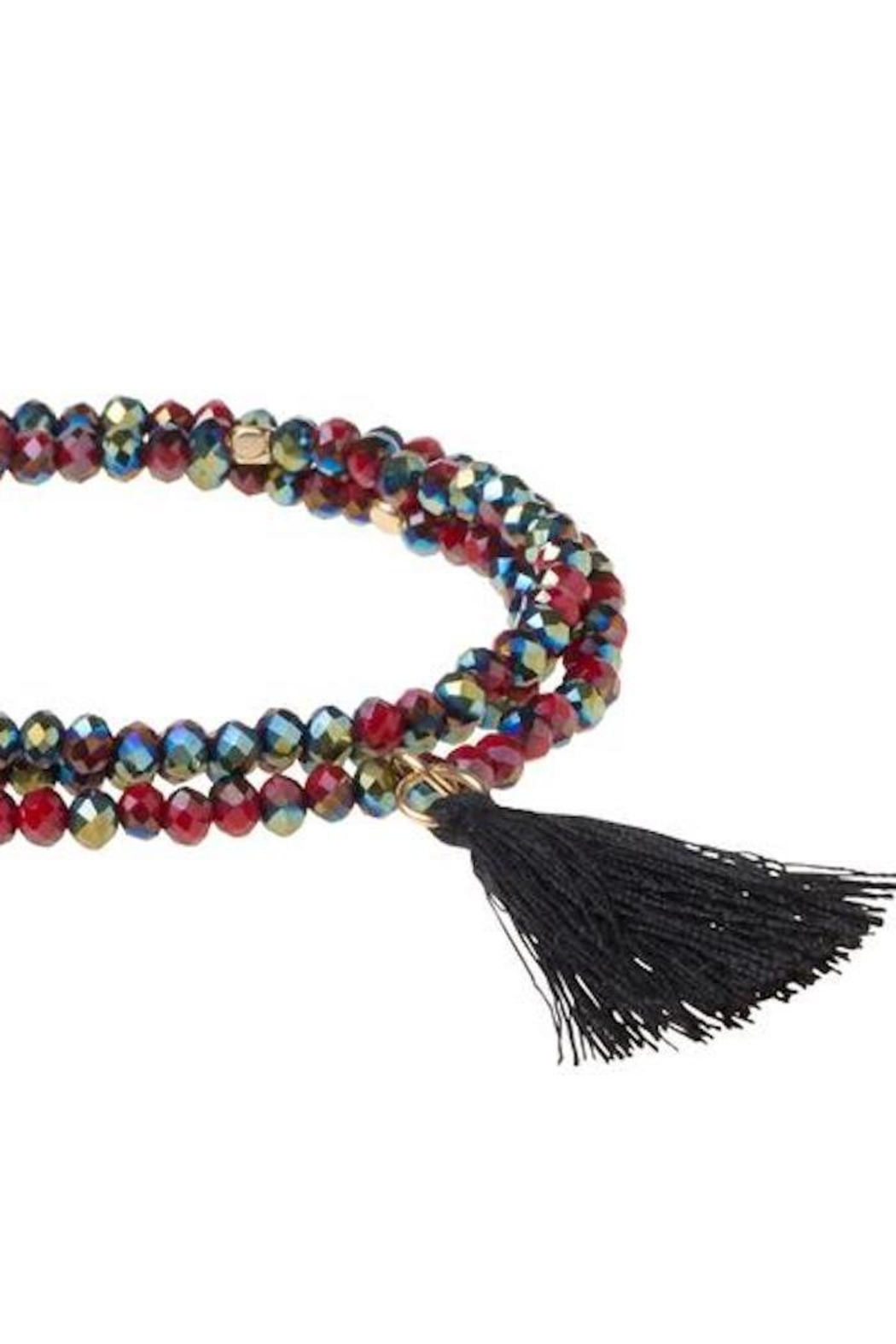 Scout CURATED WEARS Garnet Tassel Wrap - Front Full Image