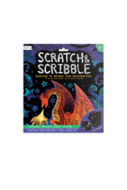 Ooly Scratch and Scribble Art Kit: Fantastic Dragons - 10 PC Set - Product Mini Image