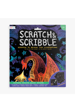 Shoptiques Product: Scratch And Scribble: Fantastic Dragons Guided Artwork