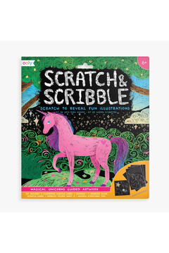 Shoptiques Product: Scratch and Scribble: Magical Unicorns Guided Artwork