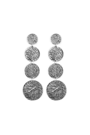 Riah Fashion Scratch-Disc Drop Earring - Product Mini Image