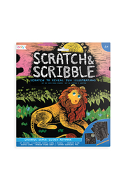 Ooly Scratch & Scribble: Colorful Safari Guided Artwork - Product Mini Image